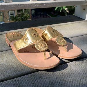 Gold Jack Rodger Sandals Size 8